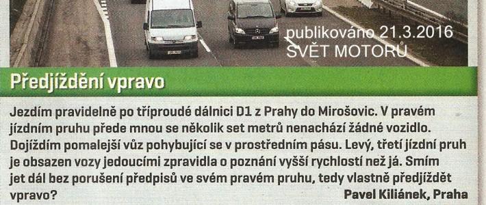 Dopravní akademie reaguje na článek v časopise SVĚT MOTORŮ